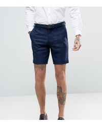 Only & Sons - Skinny Shorts In Textured Check - Lyst