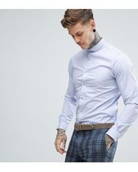 Heart & Dagger - Skinny Shirt With Penny Collar - Lyst