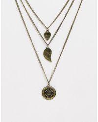 ASOS - Collier en chanes avec pendentif motif soleil - Lyst
