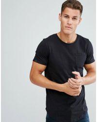 Produkt - Longline T-shirt In Slub Cotton - Lyst