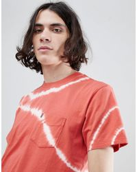 Levi's - Levi's Sunset Pocket T-shirt Red Tie Dye - Lyst