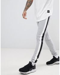 Sixth June   Skinny Joggers In Grey With Side Stripe   Lyst