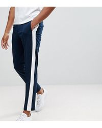 SELECTED - Tapered Trousers With Stripe - Lyst