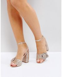 ASOS - Asos Hiccup Heeled Sandals - Lyst