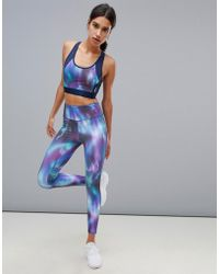 Esprit - Galaxy Print Gym Leggings - Lyst