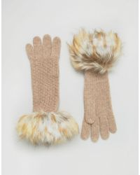 Alice Hannah - Woven Stitch Knit Gloves - Lyst