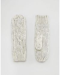 Alice Hannah - Sparkle Cable Mittens - Lyst
