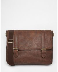 New Look - Satchel With Strap In Brown - Lyst