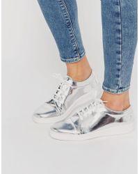 Miista - Adalynn Silver Metallic Sneakers - Silver - Lyst