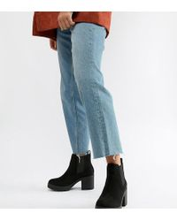 Truffle Collection - Wide Fit Chunky Heeled Chelsea Boots - Lyst