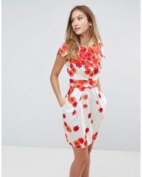 Closet - Closet Floral Tie Back Dress - Lyst