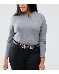 ASOS - Studded Double Buckle Western Waist And Hip Belt - Lyst