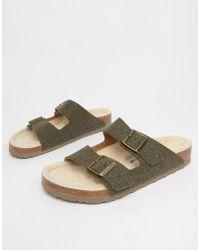 Birkenstock Arizona Doubleface Sandals In Khaki