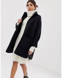 MAX&Co. - Neoprene Hooded Coat - Lyst