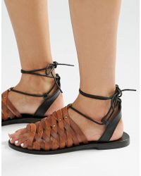 Warehouse - Strappy Tie Sandal - Lyst