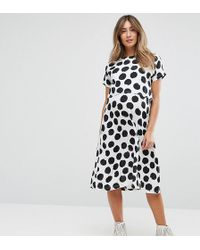 ASOS | Nursing Dress With Double Layer In Blurred Spot | Lyst