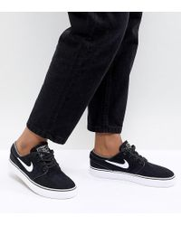 Nike - Zoom Stefan Janoski Trainers In Black And White - Lyst