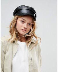 9511322c730 ASOS - Asos Patent Pu Baker Boy Hat - Lyst