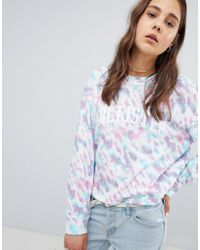 Hollister - Oversized Cotton Sweat With Logo - Lyst