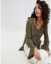 Free People - Belong To You Crochet Knit Jumper - Lyst