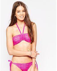 Marie Meili - Monique Crochet Bandeau Bikini Top - Lyst
