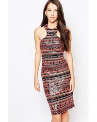 Key Collections Ashley Roberts For Liquorice Dress In Multi Sequins - Multi