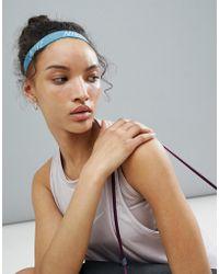 Nike - Nike Logo Blue Headband - Lyst
