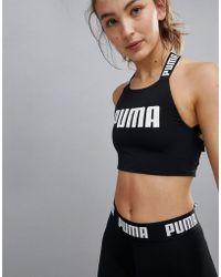 PUMA - Exclusive To Asos Tie Back Crop Top - Lyst