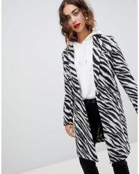 Mango - Zebra Print Coat - Lyst