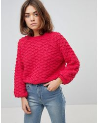 ONLY - Diamond Bobble Jumper With Bell Sleeves - Lyst
