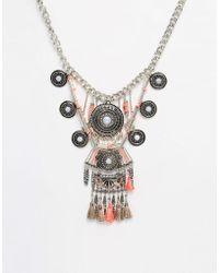 New Look - Havana Thread Necklace - Lyst