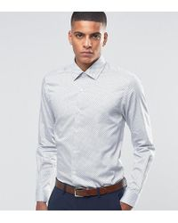 Number Eight Savile Row - Skinny Smart Shirt In Polka Dot - Lyst