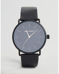 ASOS - Design Watch In Black With Rose Gold Highlights - Lyst