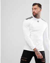 adidas Originals - Adicolor Long Sleeve Football Jersey In White Cw1225 - Lyst