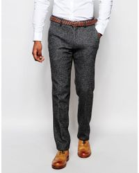 Vito - Wool Suit Trousers In Slim Fit - Lyst