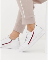 adidas Originals - Continental 80's Trainers In Off White And Red - Lyst
