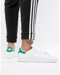 free shipping 3df36 46379 adidas Originals - Stan Smith Leather Trainers In White M20324 - Lyst
