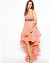 Forever Unique - Stacie Bandeau Dress With Ruffle Skirt - Lyst