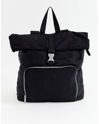 ASOS - Large Backpack With Buckle Detail - Lyst