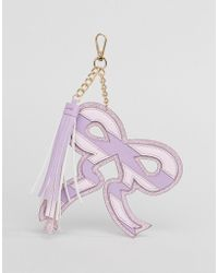ASOS - Glitter Bow Key Ring With Tassel - Lyst