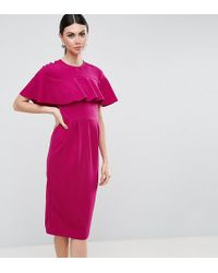 ASOS - Wiggle Dress With Frill Sleeve Detail - Lyst