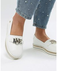 Love Moschino - Ja10243g05 Women's Espadrilles / Casual Shoes In White - Lyst