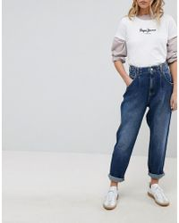 Pepe Jeans - Daisie High Waisttapered Mom Jean With Pleat - Lyst