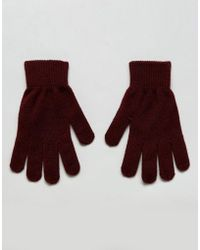 Pieces - Knitted Gloves - Lyst