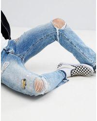 Wrangler - Boyton Tapered Jeans With Vintage Badge Detail - Lyst