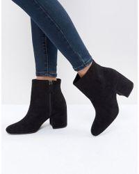 Bershka - Suedette High Heeled Boot - Lyst