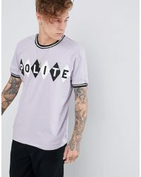 Brooklyn Supply Co. - T-shirt With Polite Argyle Print - Lyst