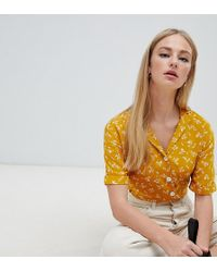 New Look - Ditsy Floral Blouse - Lyst
