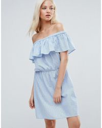 Vero Moda - Ruffle Off The Shoulder Dress - Lyst