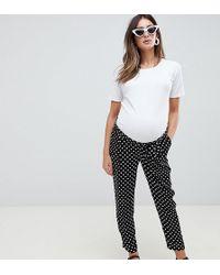 ASOS - Asos Design Maternity Woven Obi Tie Pant In Spot - Lyst